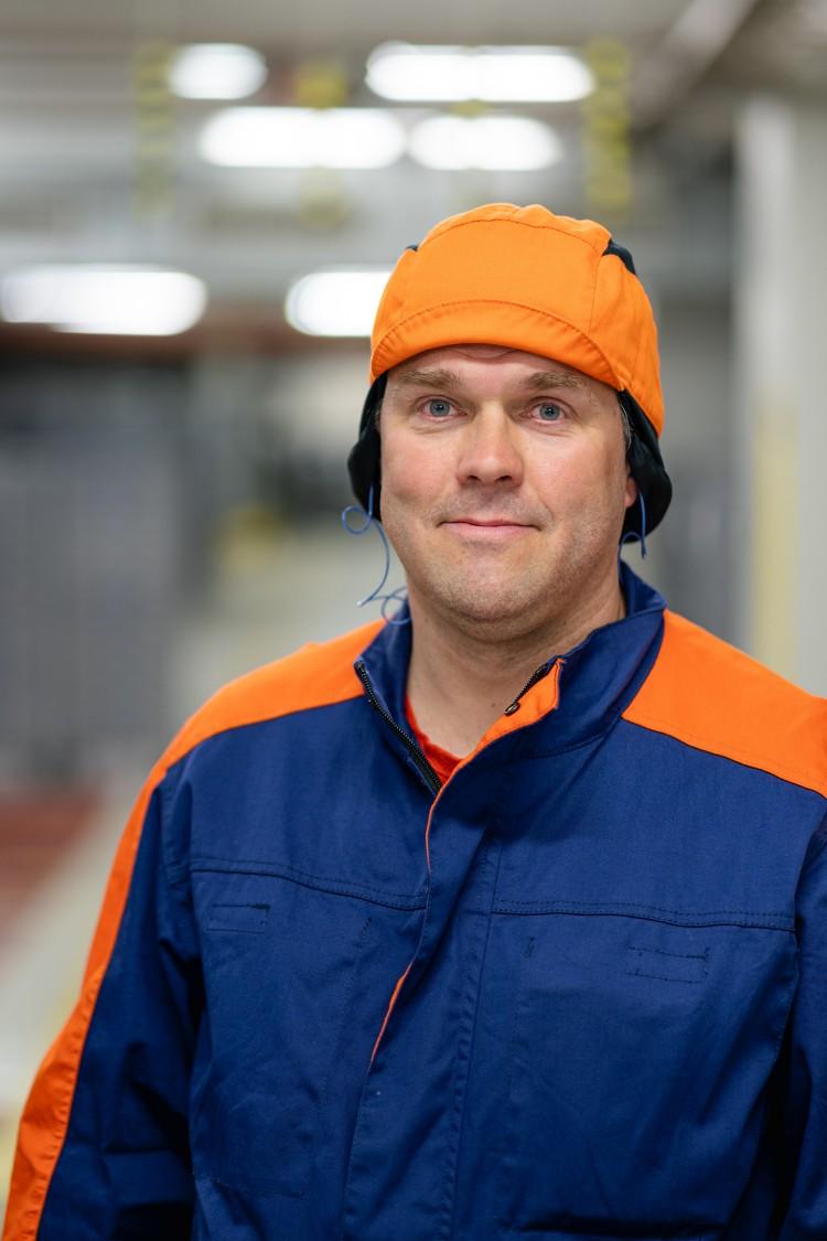 Olli-Pekka Lohi toimii Lappeenrannan makeistehtaan teknisenä päällikkönä.