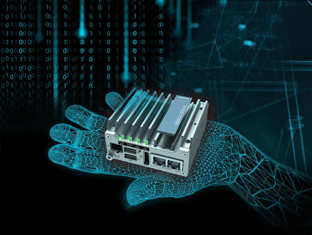 Compact Industrial PC Simatic IPC127E connects machines with each other and with the cloud