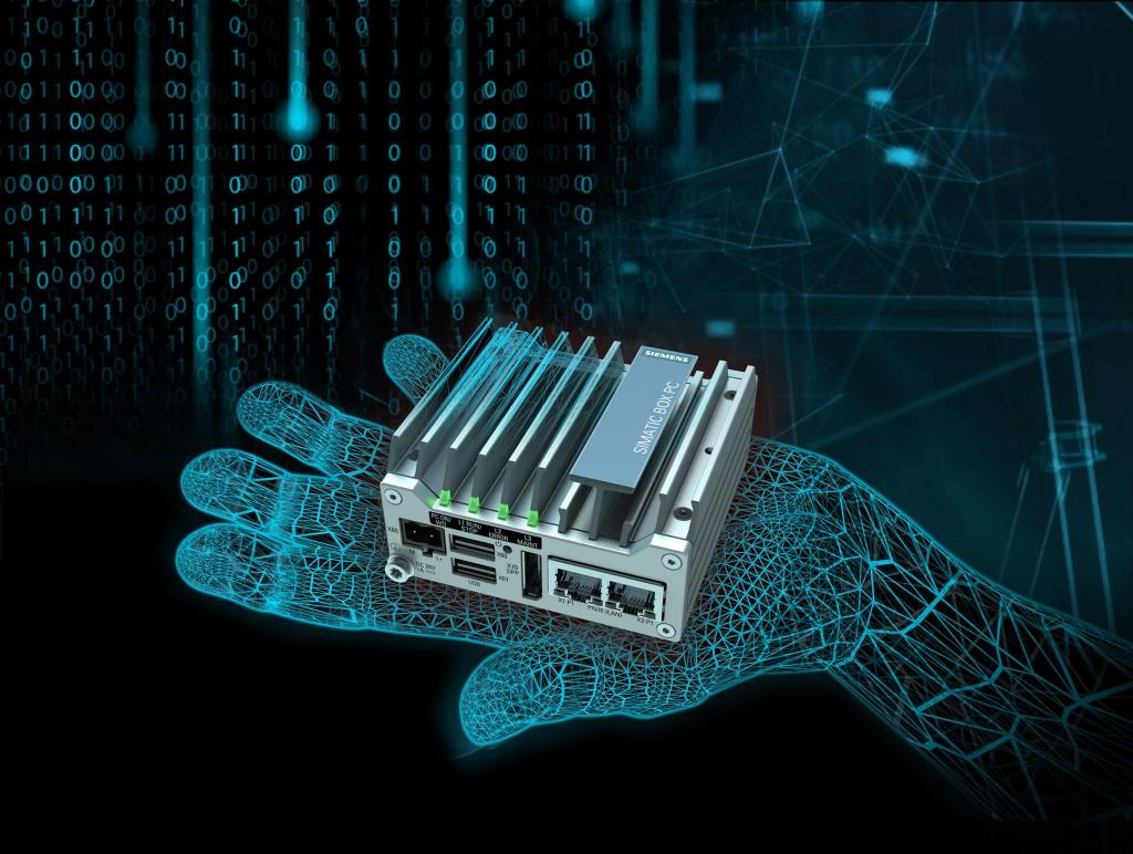 Kompakter Industrie-PC Simatic IPC127E, verbindet Maschinen untereinander und mit der Cloud