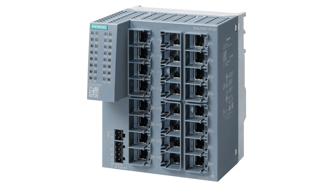 Bild eines unmanaged Industrial Ethernet Switches SCALANCE X-100