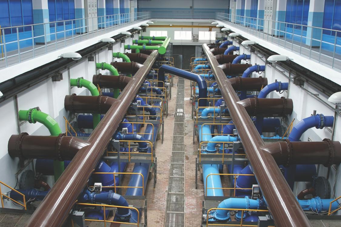 USA | Water plant representing flow measurement