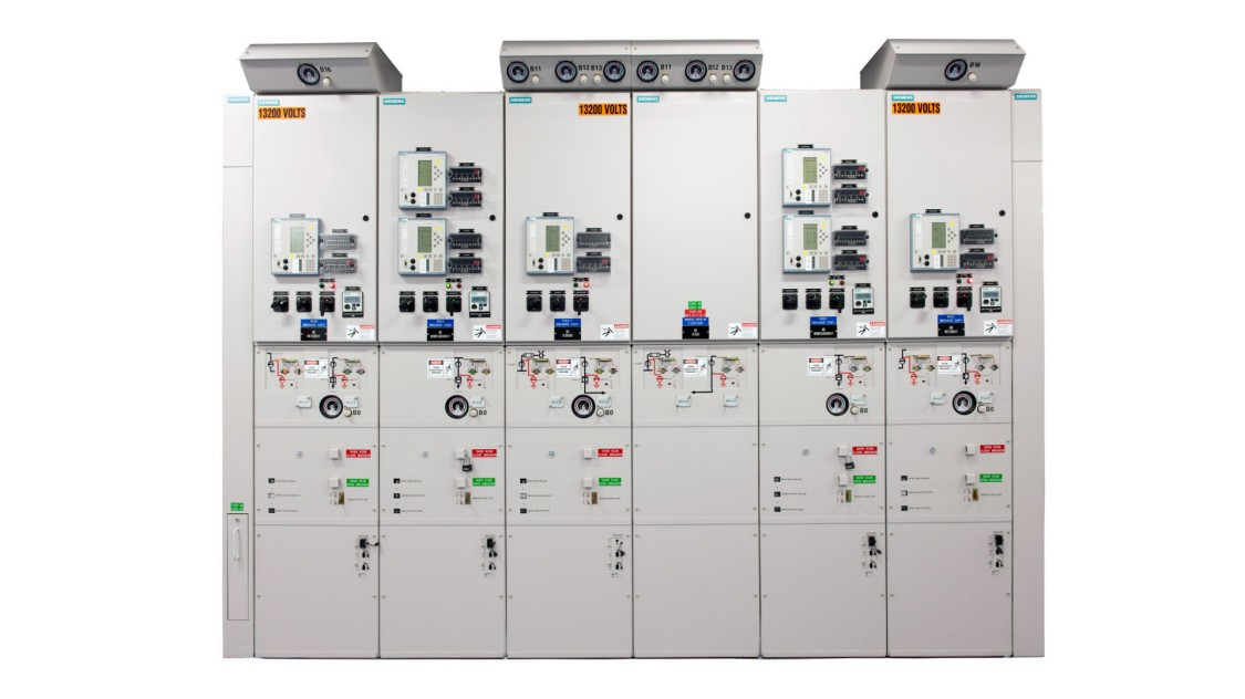 Siemens medium-voltage gas-insulated arc-resistant switchgear
