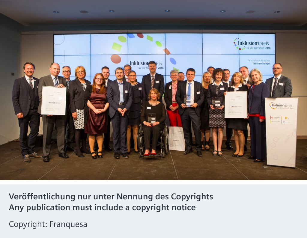 Siemens wins prize for outstanding inclusion of employees with disabilities