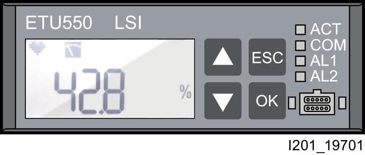Przedstawienie wskaźnika zużycia (w %) na wyświetlaczu elektronicznego wyzwalacza ETU (Electronic Trip Unit)