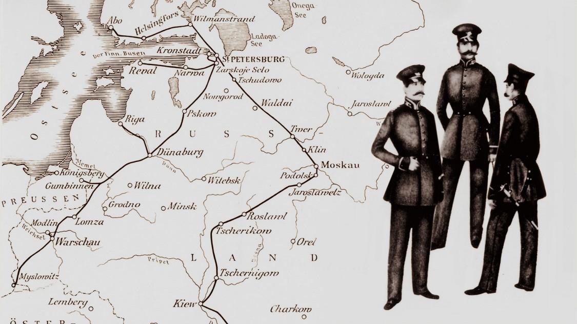 Карта телеграфной сети Российской империи