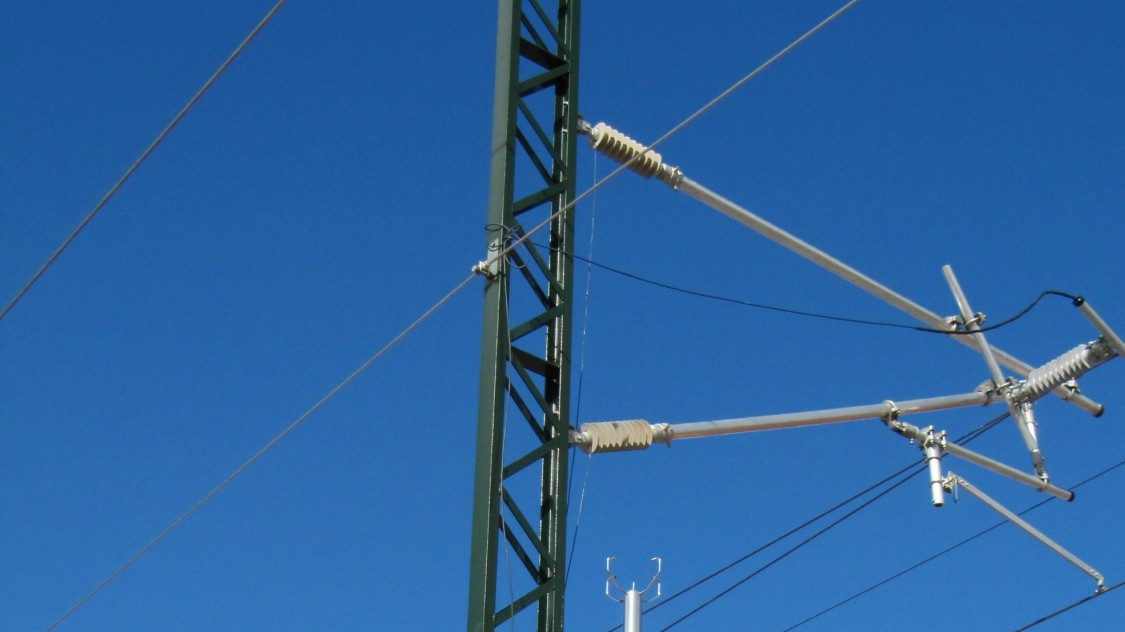 Sistema de monitoramento de pantógrafo Sicat PMS da Siemens.