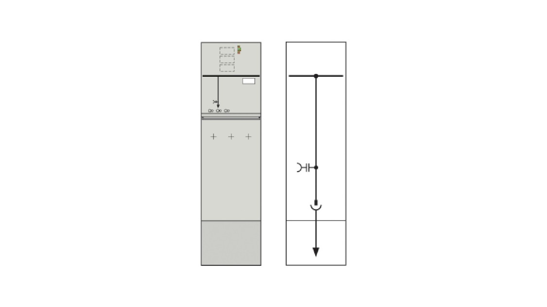 8DJH 36 medium-voltage switchgear cable section K