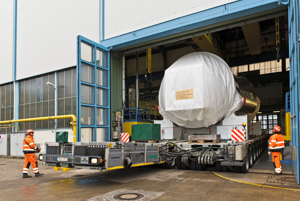 The first gas turbines are leaving the production hall