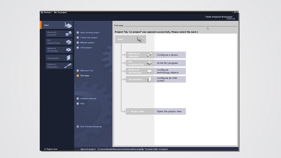 TIA Portal Projectselection