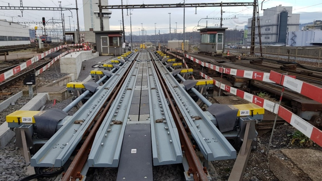 Balkengleisbremse Rangierbahnhof Basel II, Bild Siemens Mobility AG