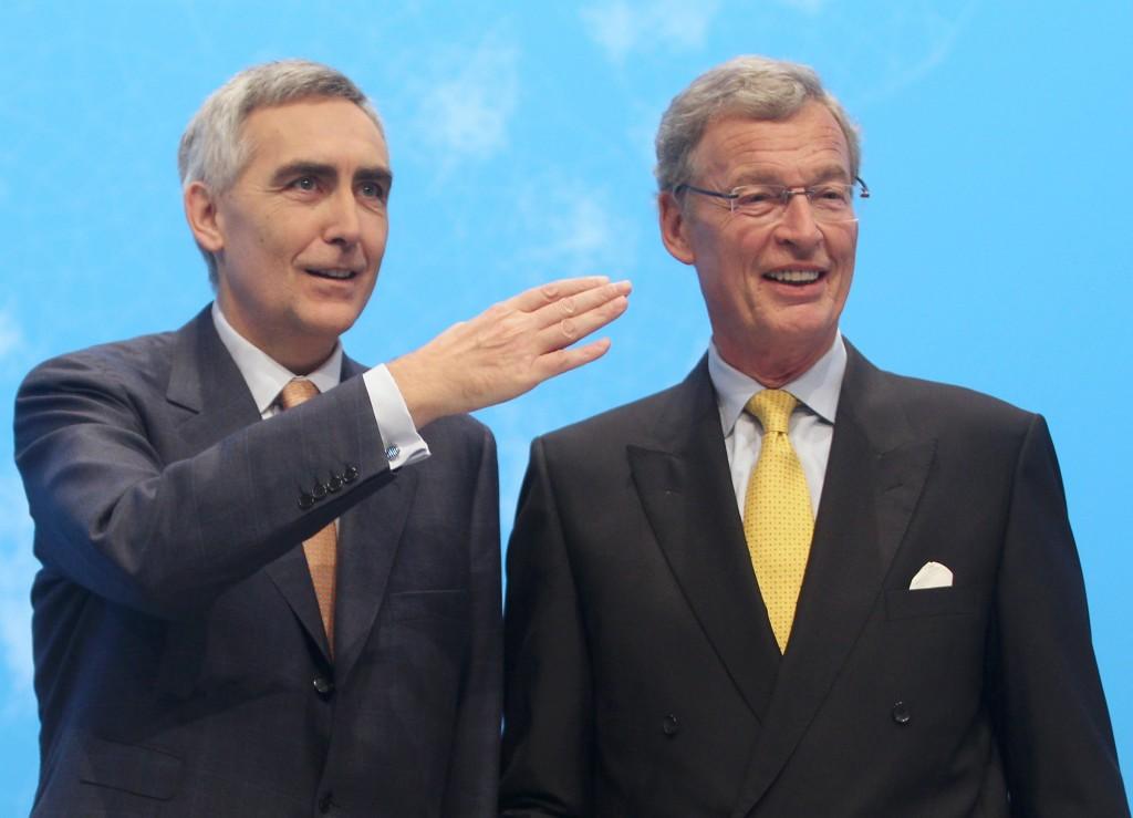 Siemens Annual Shareholders' Meeting 2012 in Munich - Annual Shareholders' Meeting in the Olympiahalle Munich