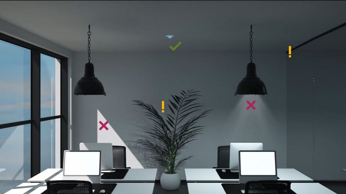 Workplace with hooks and crosses