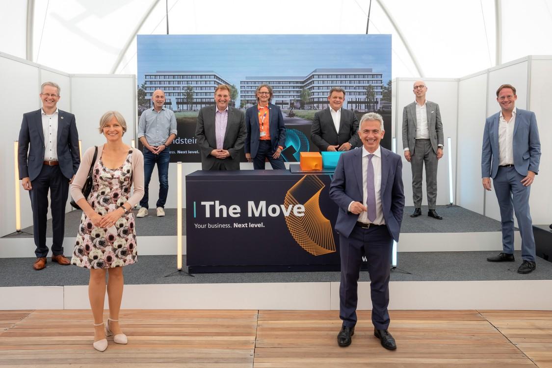 The Move Baustelle, die Grundsteinlegung