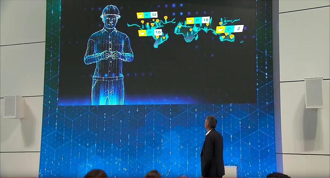 Bild vom Video der Bühnenpräsentation SIDRIVE IQ auf der Hannover Messe 2018