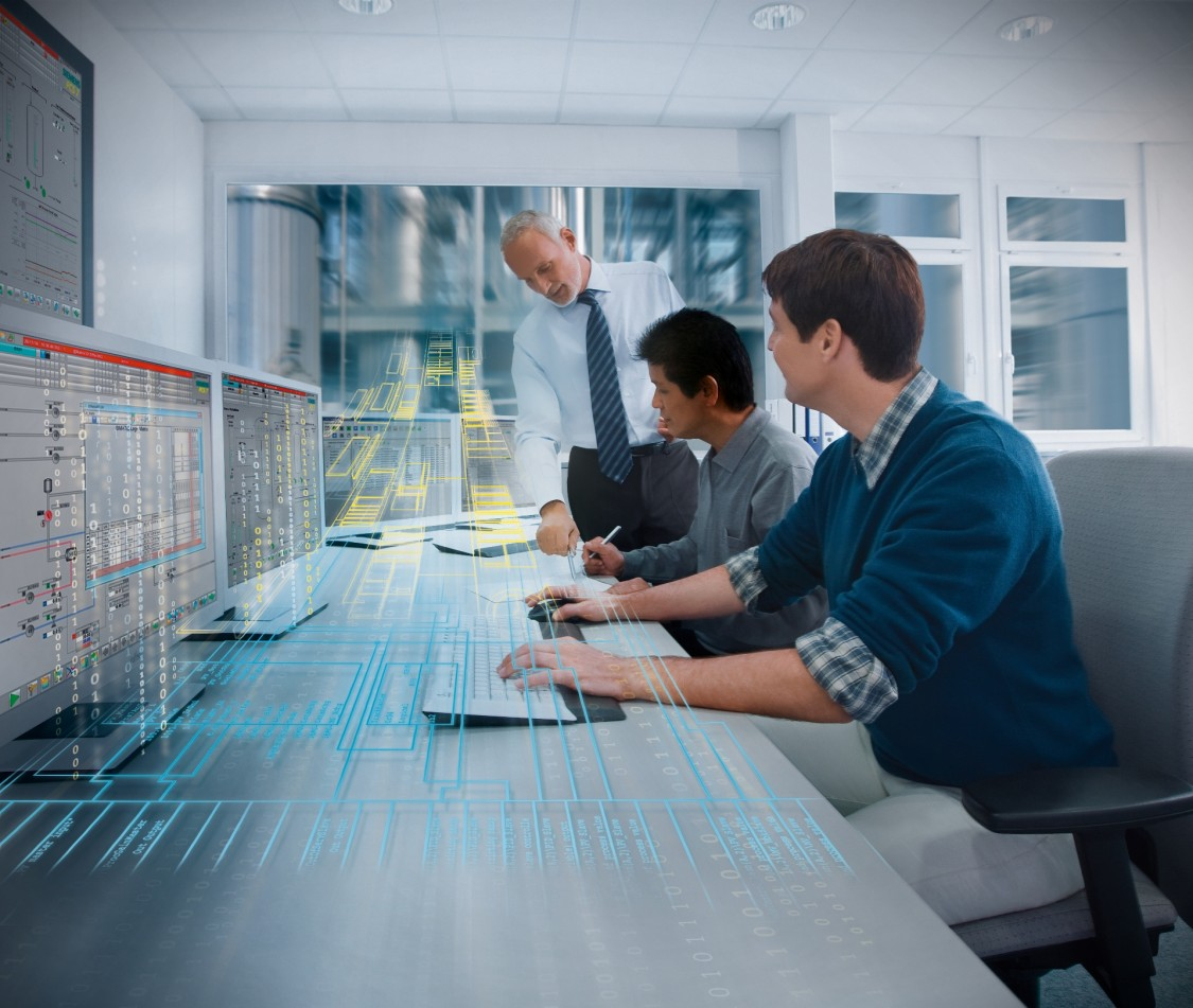 The PCS 7 distributed control system