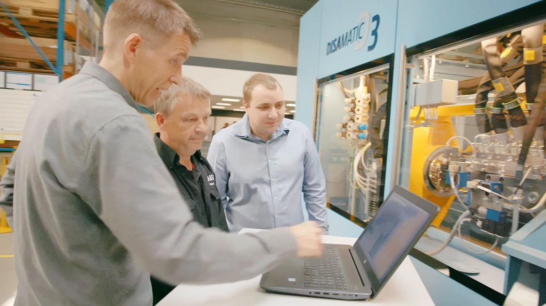 DISA nutzt zur Optimierung seiner Maschinen Tests und Simulationen
