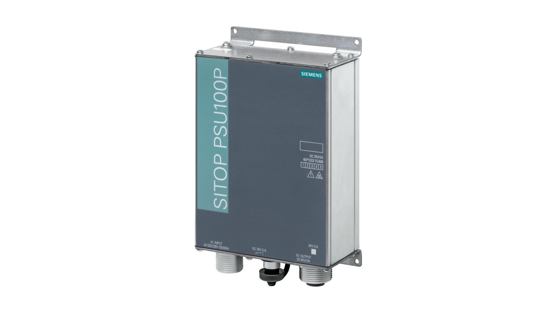 SITOP PSU100P IP67、単相、DC 24 V/5 Aの製品画像