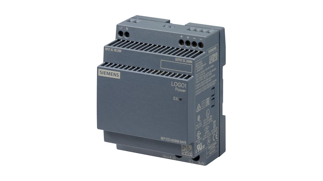 Product image LOGO!Power, 1-phase, 24 V/4 A
