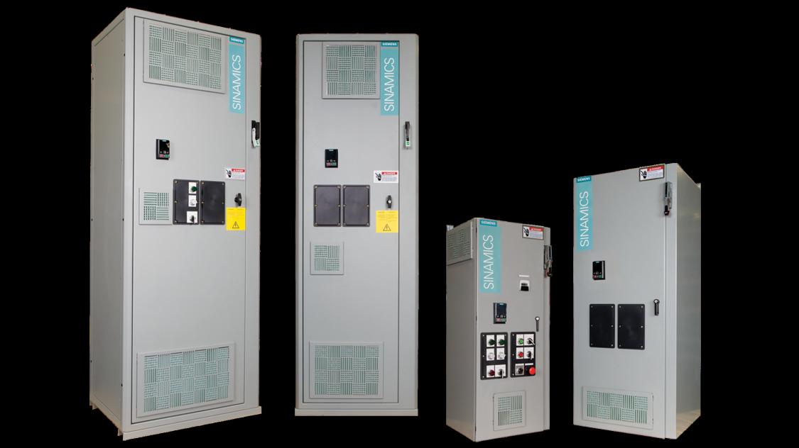 SINAMICS G120XE configured enclosed drive for pump, fan & compressor applications
