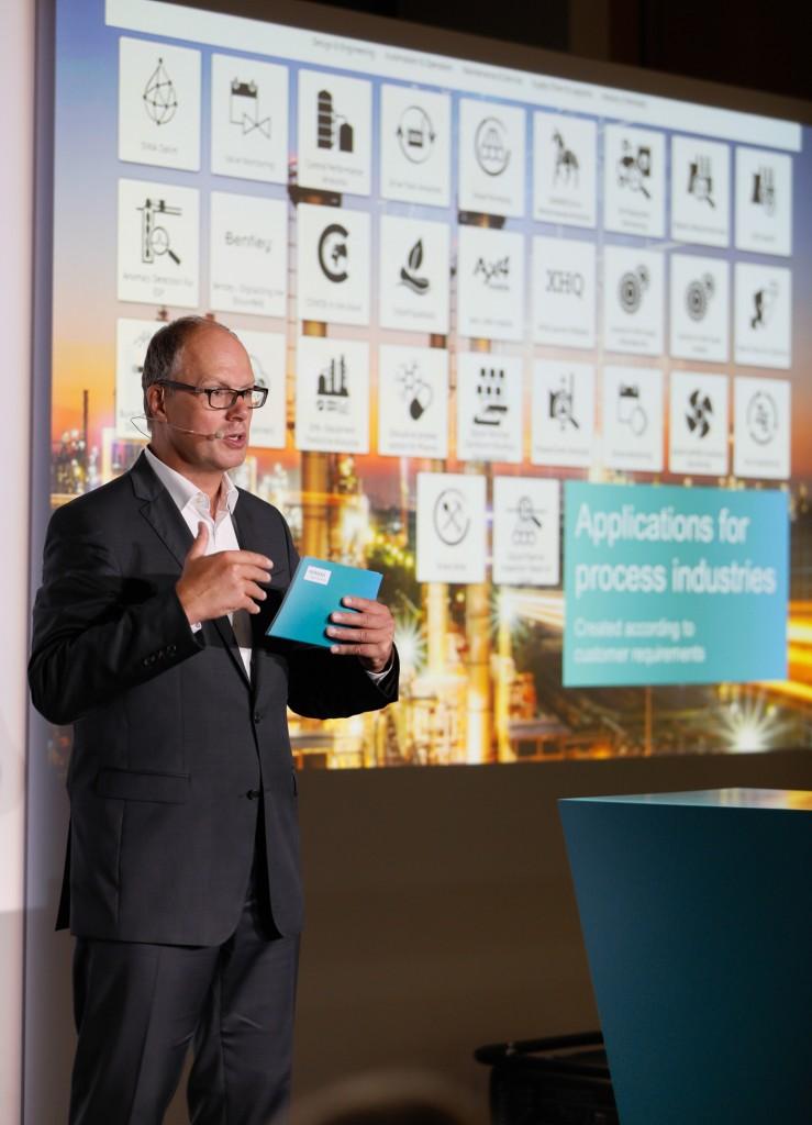 Siemens-Pressekonferenz auf der Achema 2018