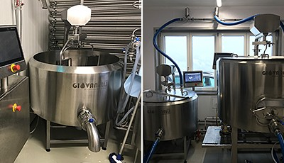 One cheese vat - 100 different cheeses – Siemens automates cheese vat for Giovanelli GmbH