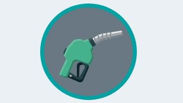 Diesel bus icon