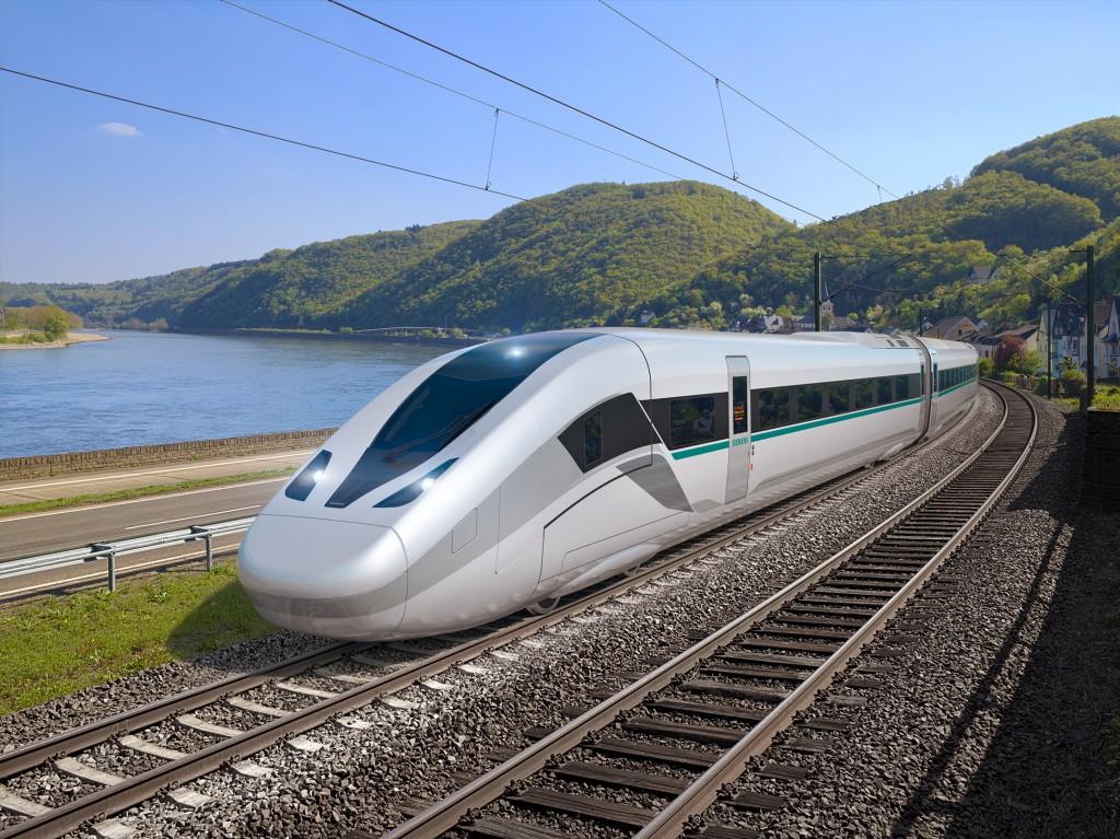 """Siemens präsentiert den neuen Hochgeschwindigkeitszug """"Velaro Novo"""""""
