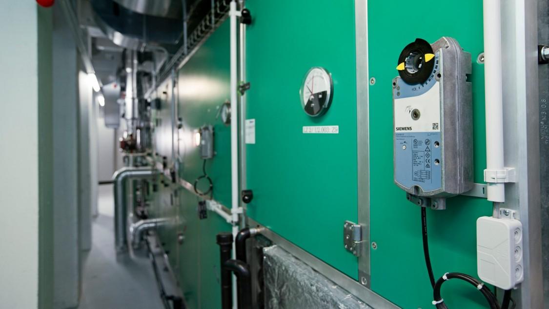 Klappenantrieb aus der OpenAir-Produktlinie von Siemens