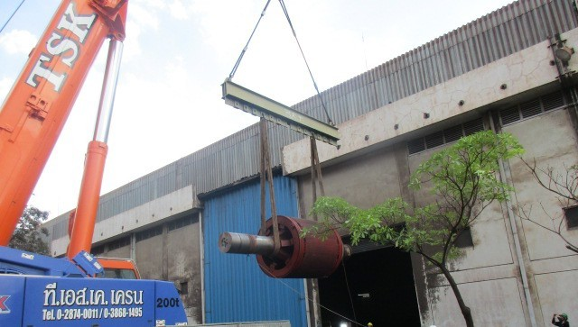 Rotor repair @ Siam Yamato Steel Company Limited, Rayong, Thailand