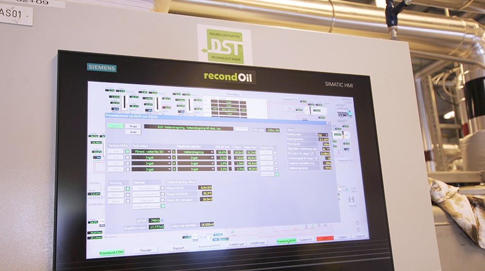 Överblick på skärmen: full kontroll på temperatur, tryck och volym.