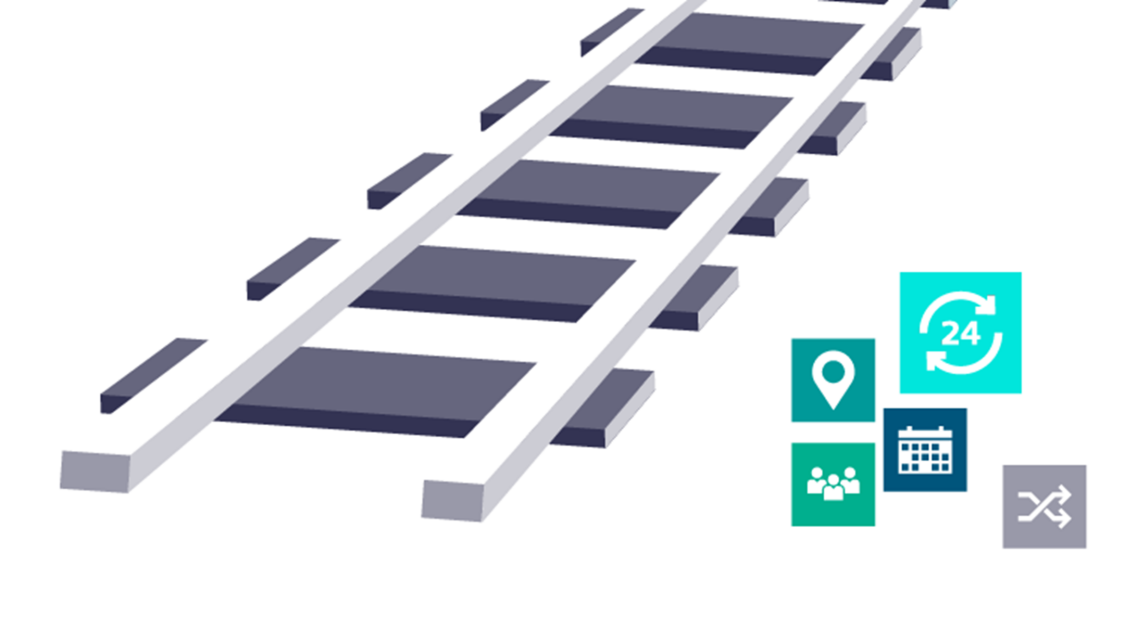 DRT for fast train service adaption