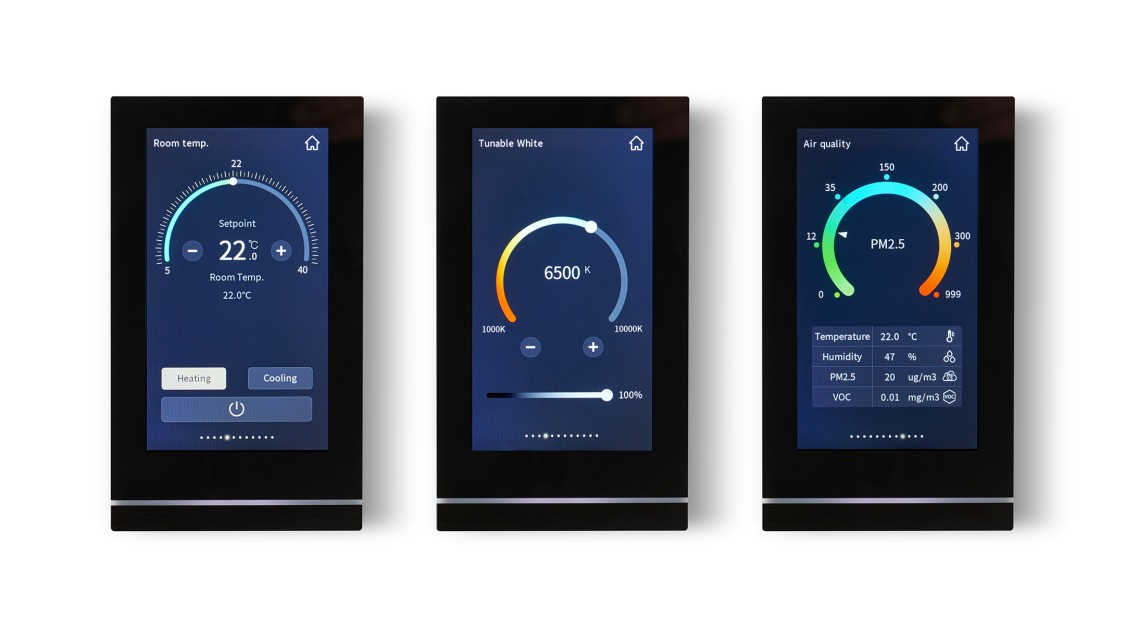 KNX Touch Control TC5 all-in-one-room operation unit