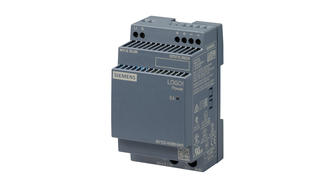 Product image LOGO!Power, 1-phase, 24 V/2.5 A