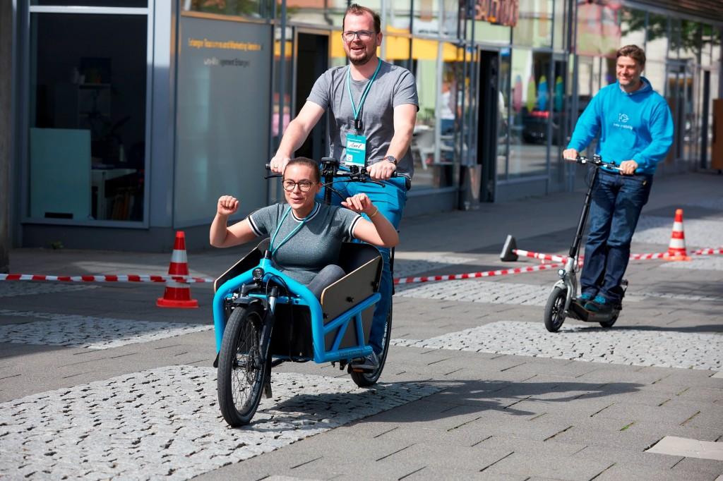 """Pressebild """"E-Parcours"""" zur Meldung """"Siemens Campus Mobilität"""""""