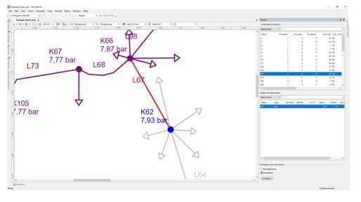 PSS®SINCAL Power Flow Module Screenshot