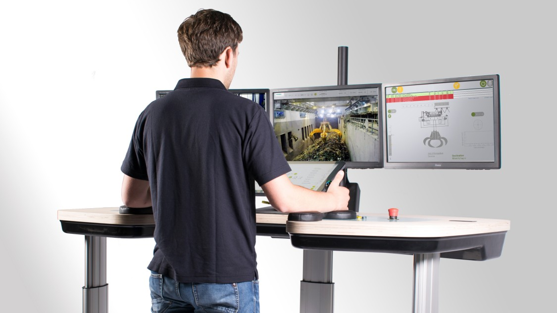 Operator working on a RCOS Remote Control Station