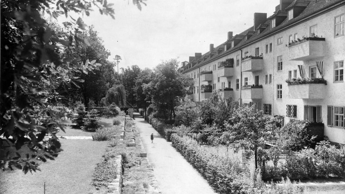 """Häuser der Siedlung """"Siemensstadt"""", ca. 1930"""