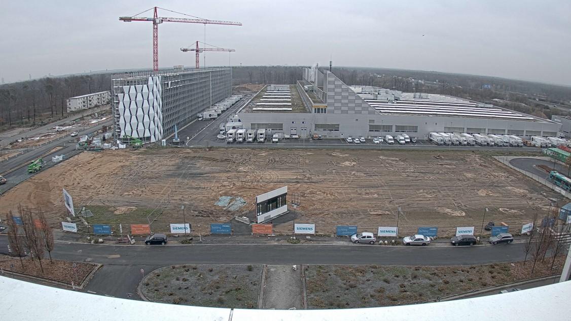Die Baustelle für die neuen Büros der Zukunft im The Move Gebäudekomplex ist eröffnet