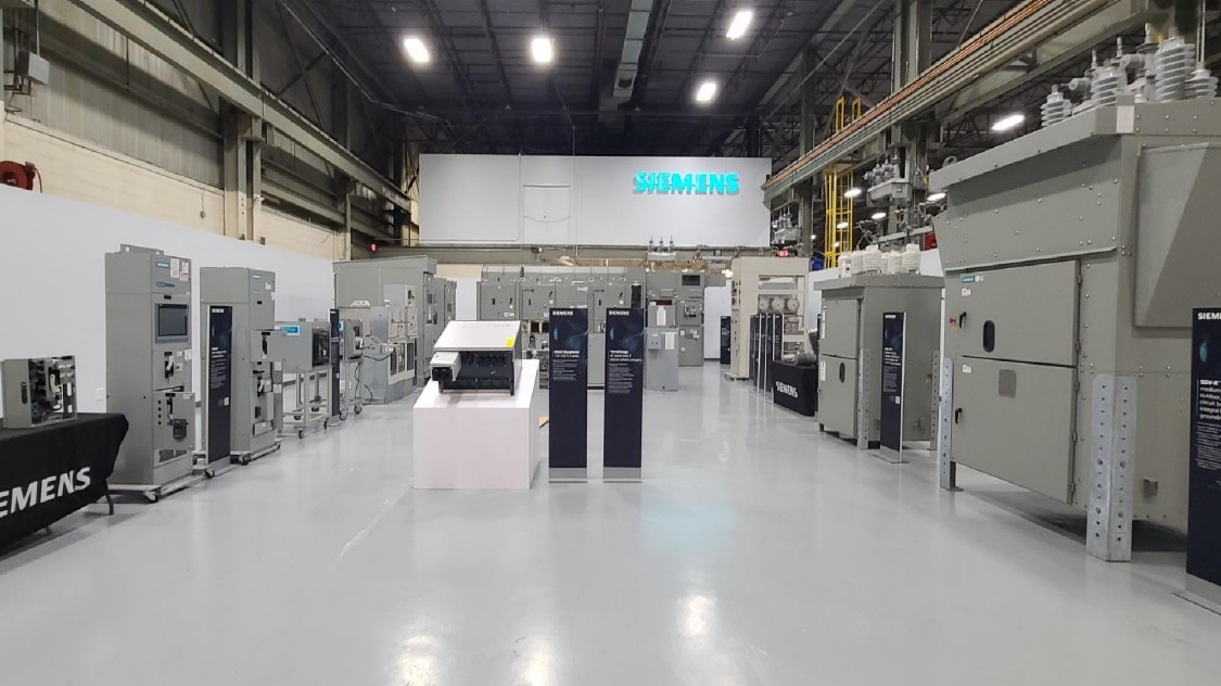 Siemens' power distribution products and solutions demos showroom