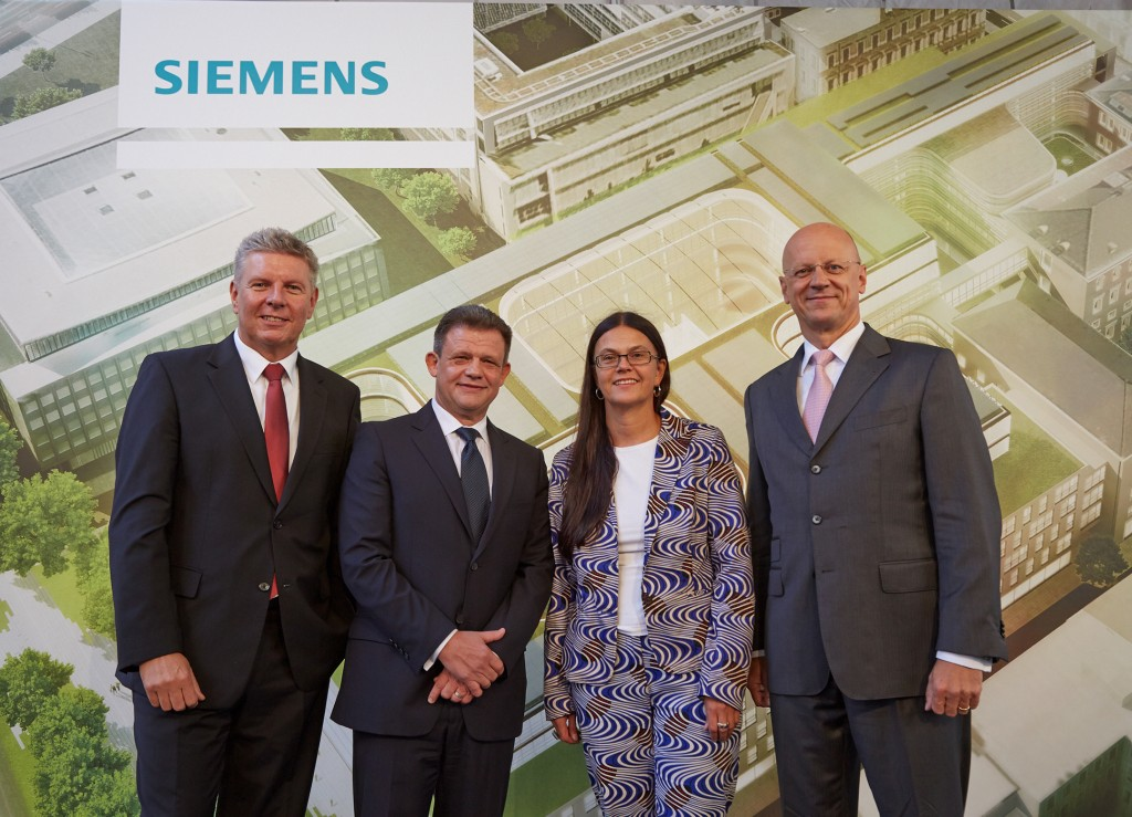 Topping-out ceremony for Siemens' new company headquarters