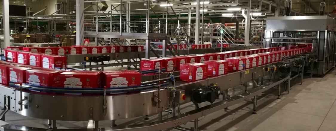 百威英博(营口)有限公司啤酒生产线