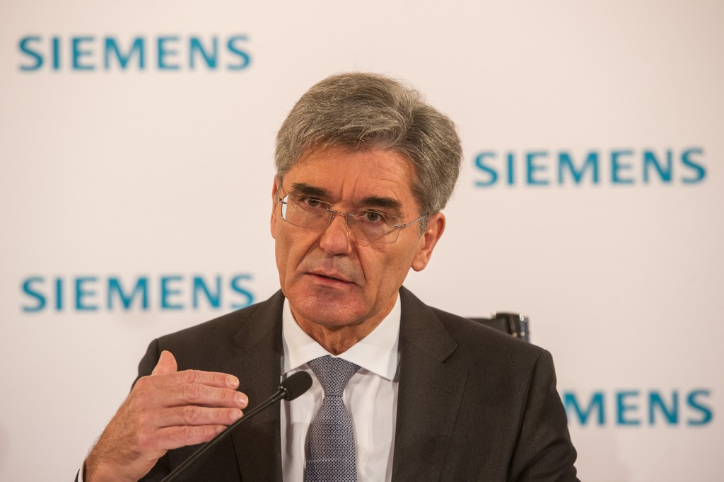 In the picture: Joe Kaeser, President and Chief Executive Officer of Siemens AG