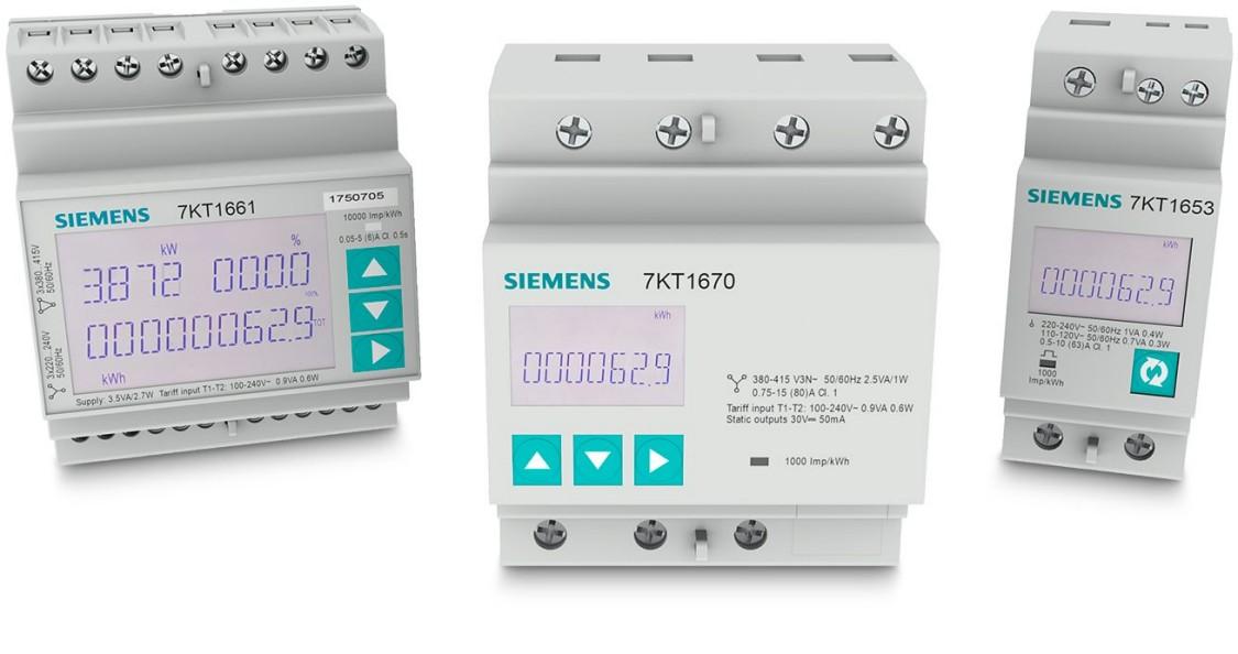 компактные измерительные приборы 7KT PAC1600 для установки в силовых и распределительных щитах.