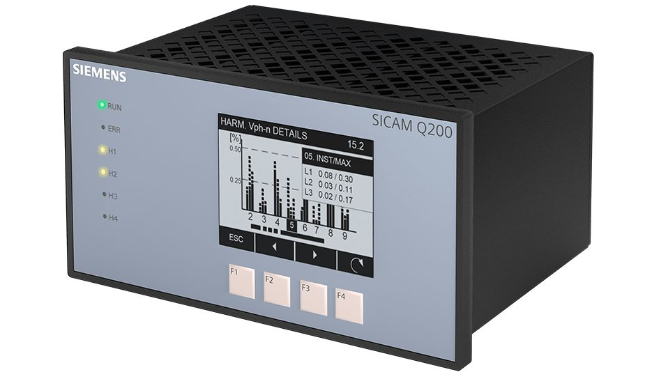 Power quality  recorder SICAM Q200 perspective view
