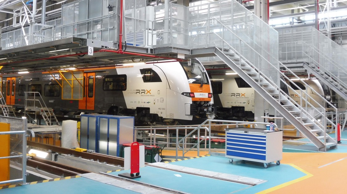 Rail Service Center inside with RRX