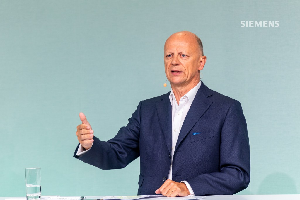 Siemens AG's Capital Market Day on June 24, 2021:Chief Financial Officer, Ralf. P. Thomas, answering questions from analysts who are participating virtually in the event held at Siemens headquarters in Munich.