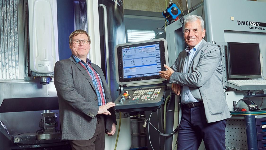 Karsten Schwarz und Andreas Pfeiffer bei W. Andreas Pfeiffer Maschinen- und Apparatebau