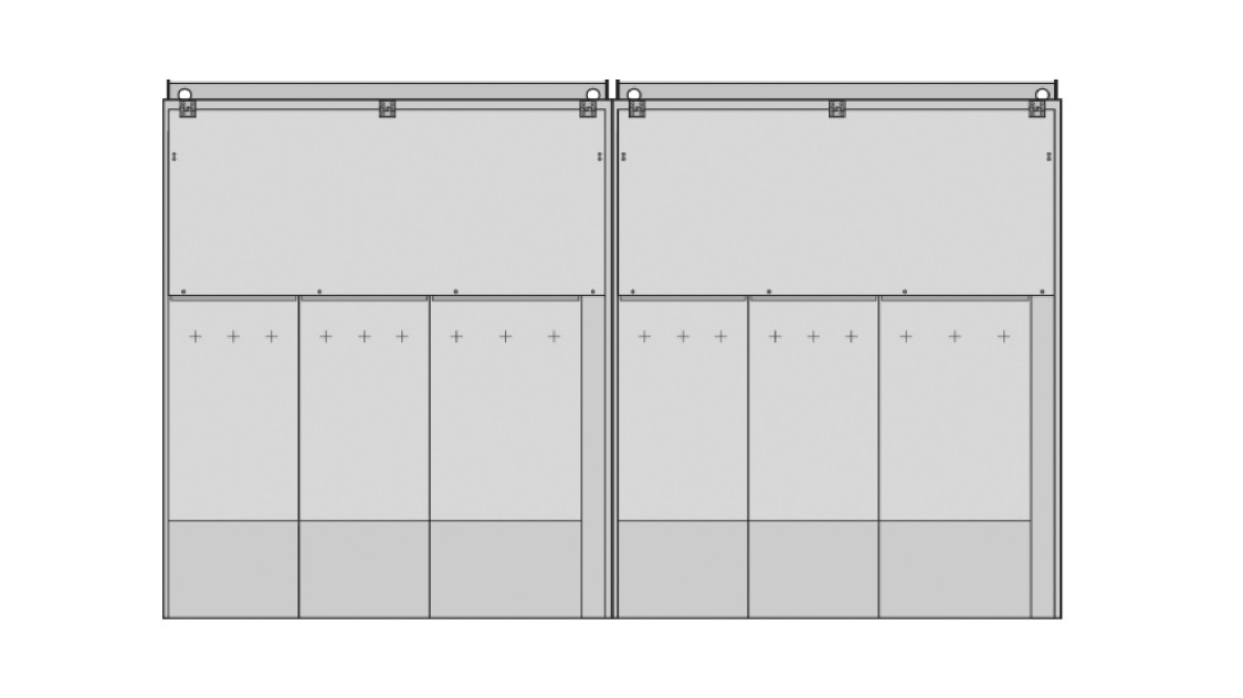 8DJH 36 medium-voltage switchgear outdoor enclosure with up to eight sections