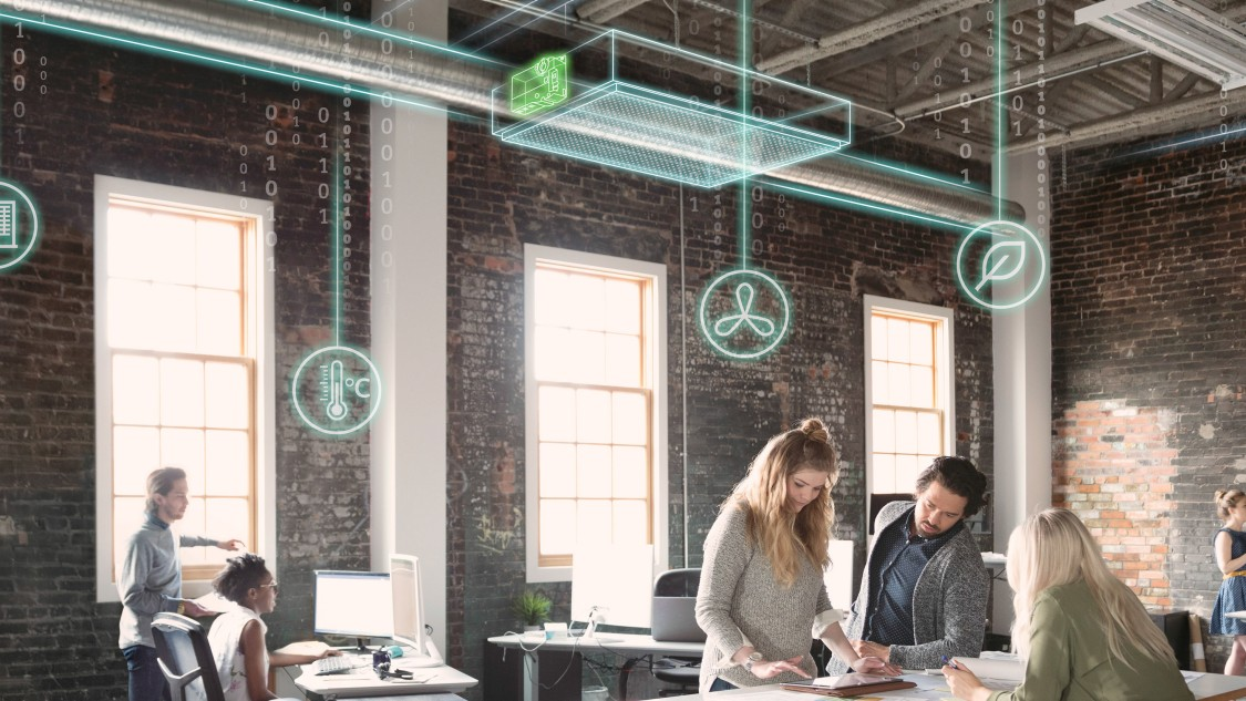 Demand-controlled ventilation with SIemens OpenAir actuators and controllers