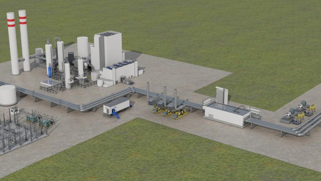 Das Bild zeigt das integrierte Pipeline-Angebot von Siemens